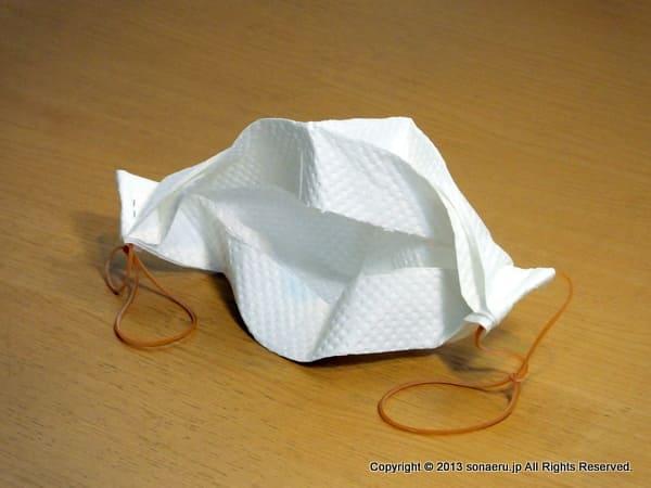 紙マスクの裏側